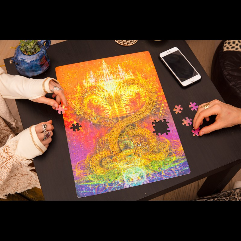 UV Active Impossible Puzzle «Kundalini awakening»