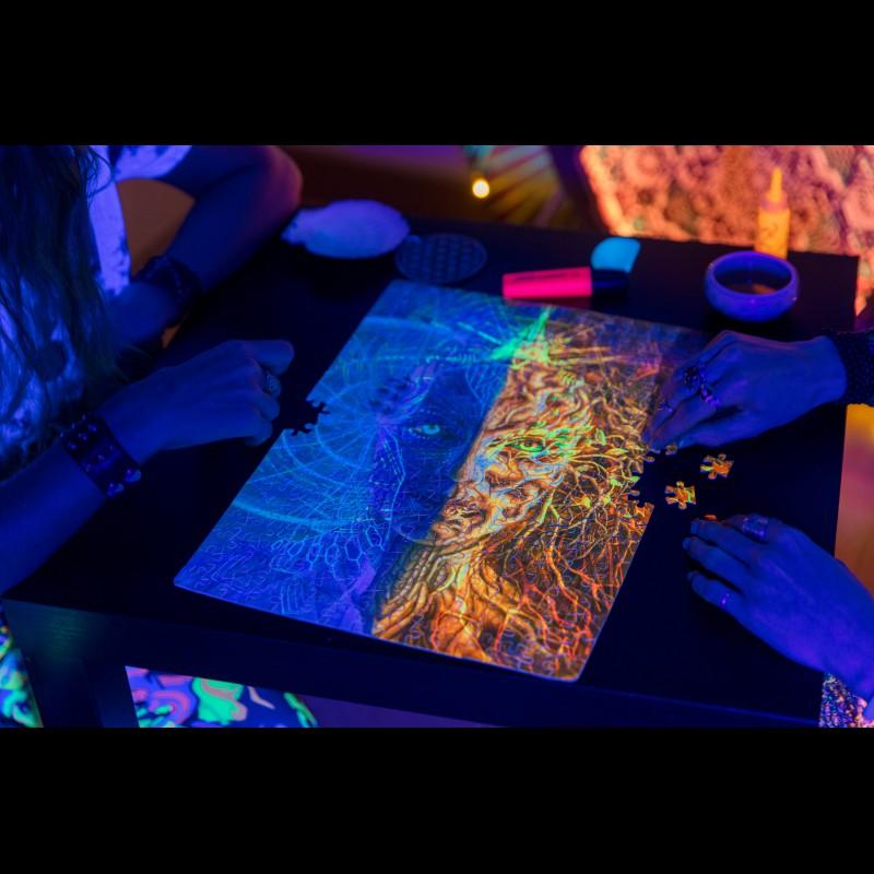 Fluorescent meditation puzzle «Final»
