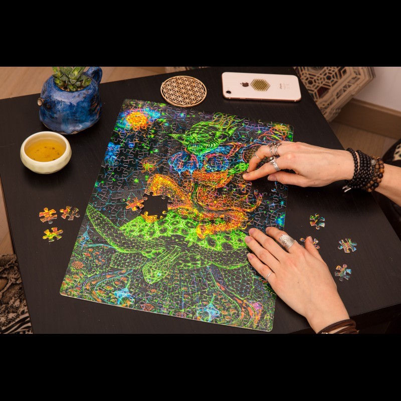 Space Glowing Mystic Puzzle «Power of Yoda»