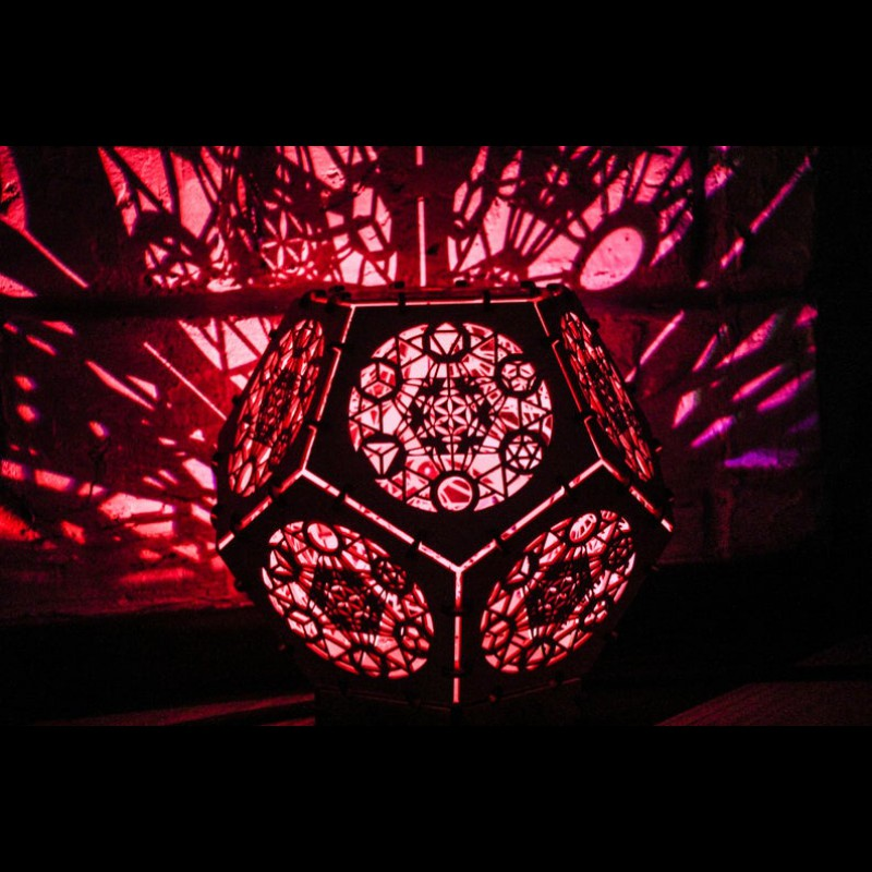 "Bohemian psychedelic LED lamp ""Metatron Cube"" night light"