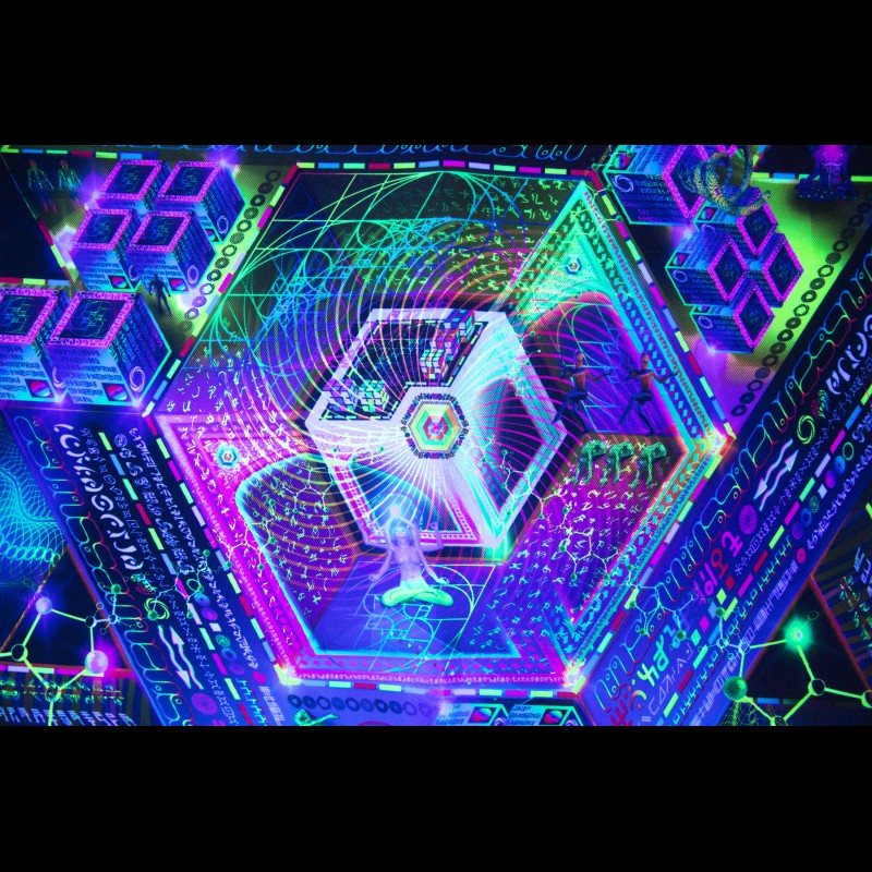 Fluorescent decorations «Trinary Transcendance»