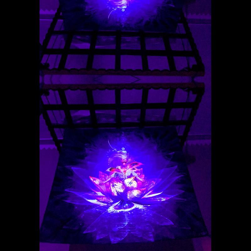 "meditation fluorescent decorations backdrop ""Lotos"""