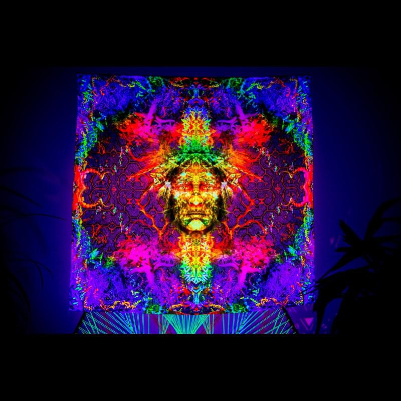 """fluorescent  festival backdrop """"Soul keeper"""""""