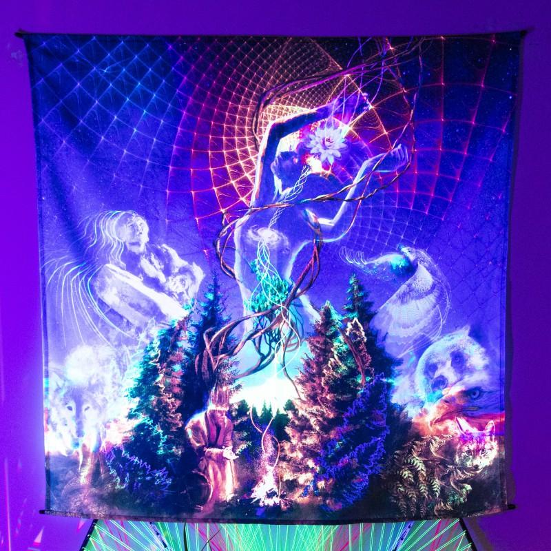 Shamanic Visionary Wall Art «Nature Vibes»