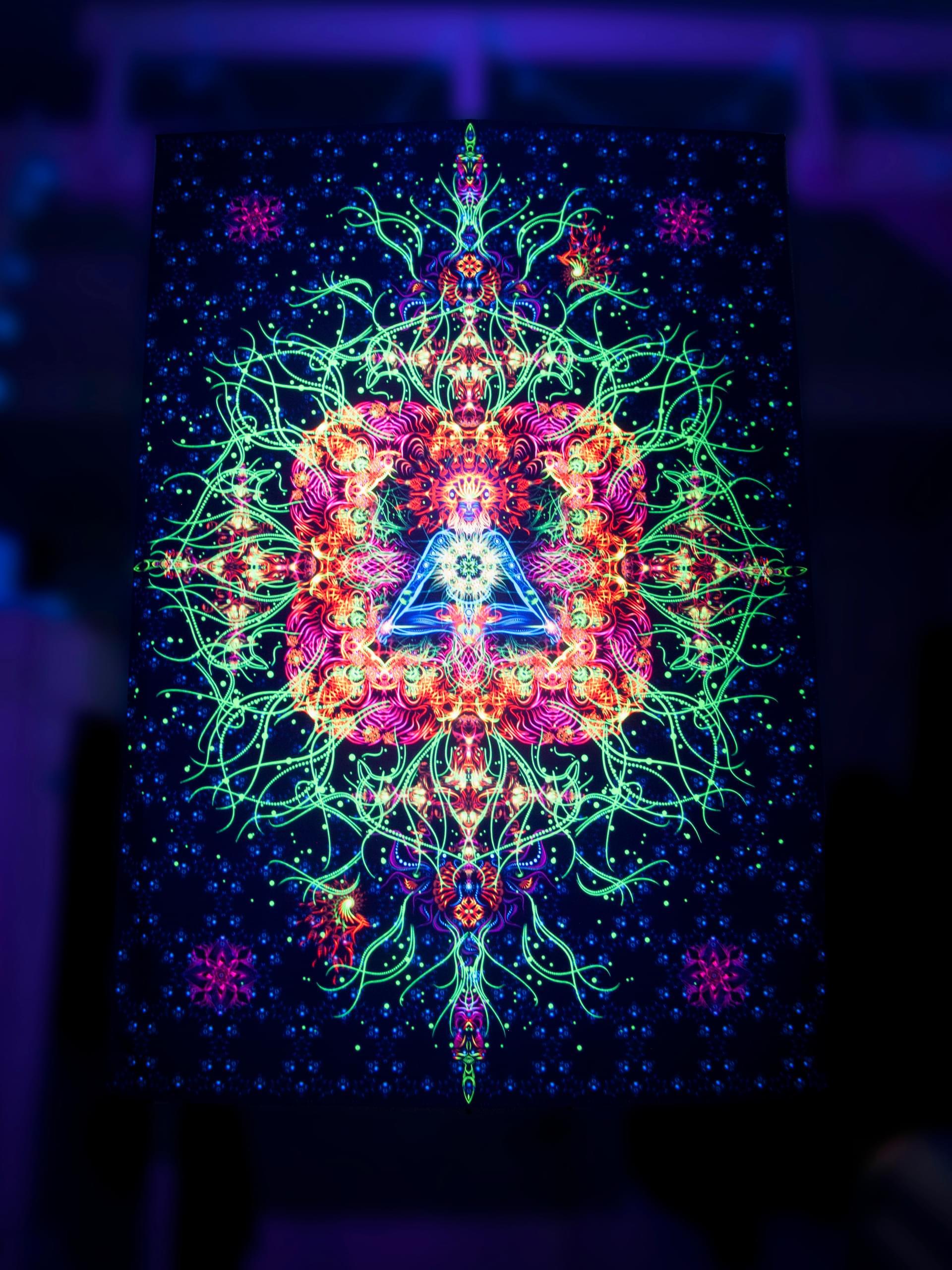 Spiritual fluorescent tapestry «Reincarnation» (Vertical)