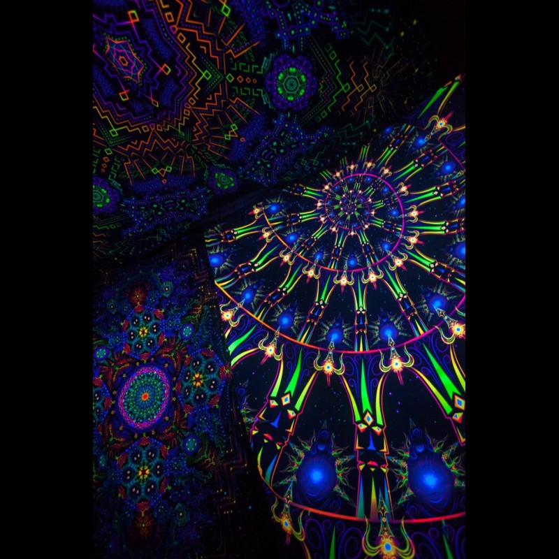 Fractal Art UV Active Print «Ascension»