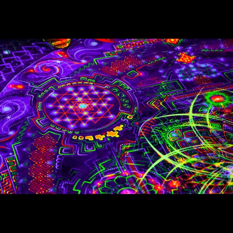 "Trippy Psychedelic Blanket ""Divine Portal"""