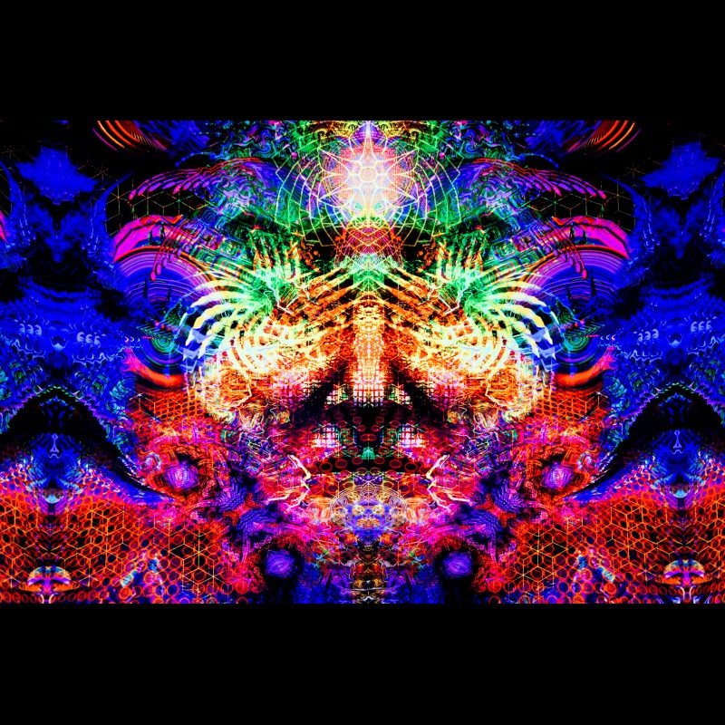 "Spiritual Fractal UV-paintings ""Lucid vision"""