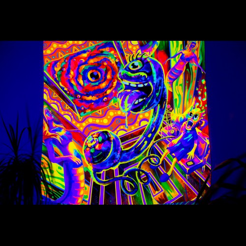 "psychedelic fluorescent decorations ""Tripping Balls"""