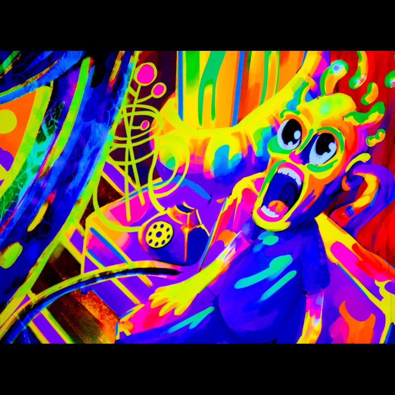 """psychedelic fluorescent decorations """"Tripping Balls"""""""
