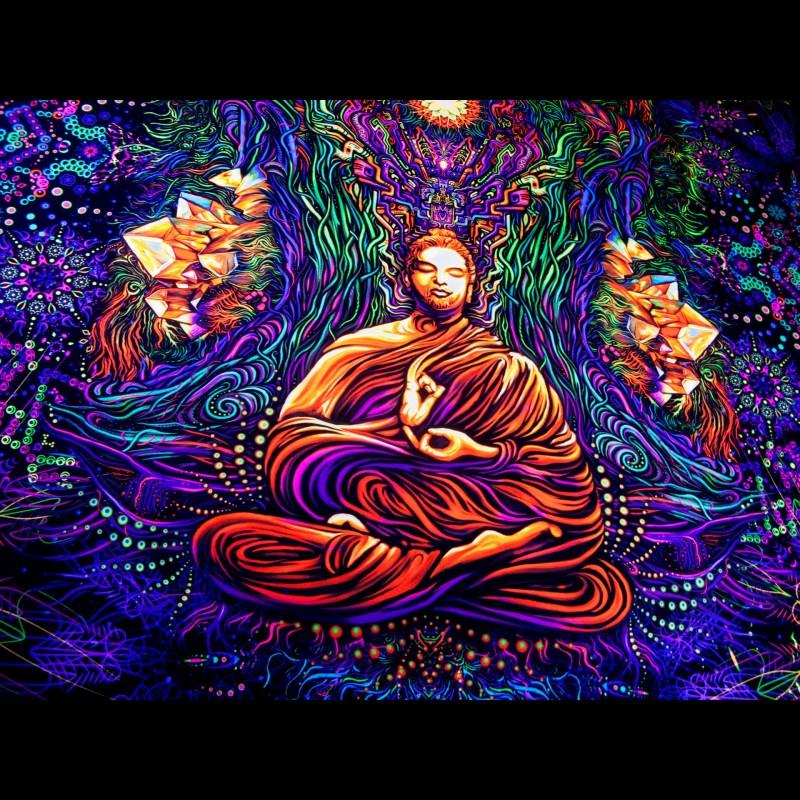 Trippy Esoteric Tapestry «Fractal Shambhala»