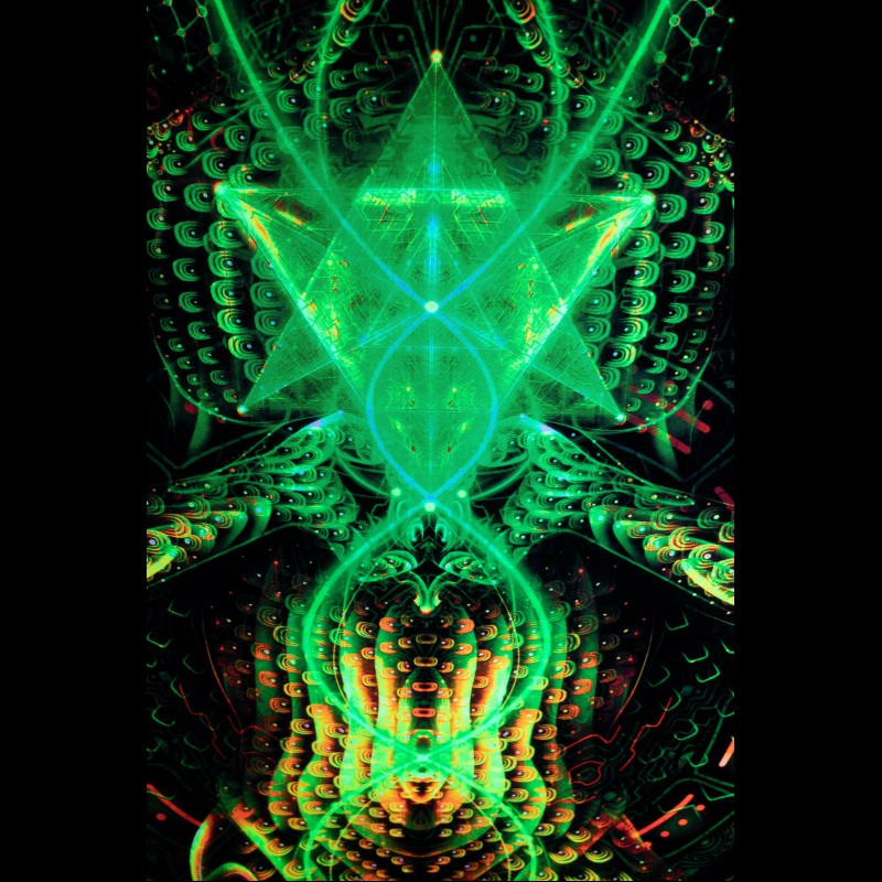UV psychedelic tapestry «Inner Discovery»