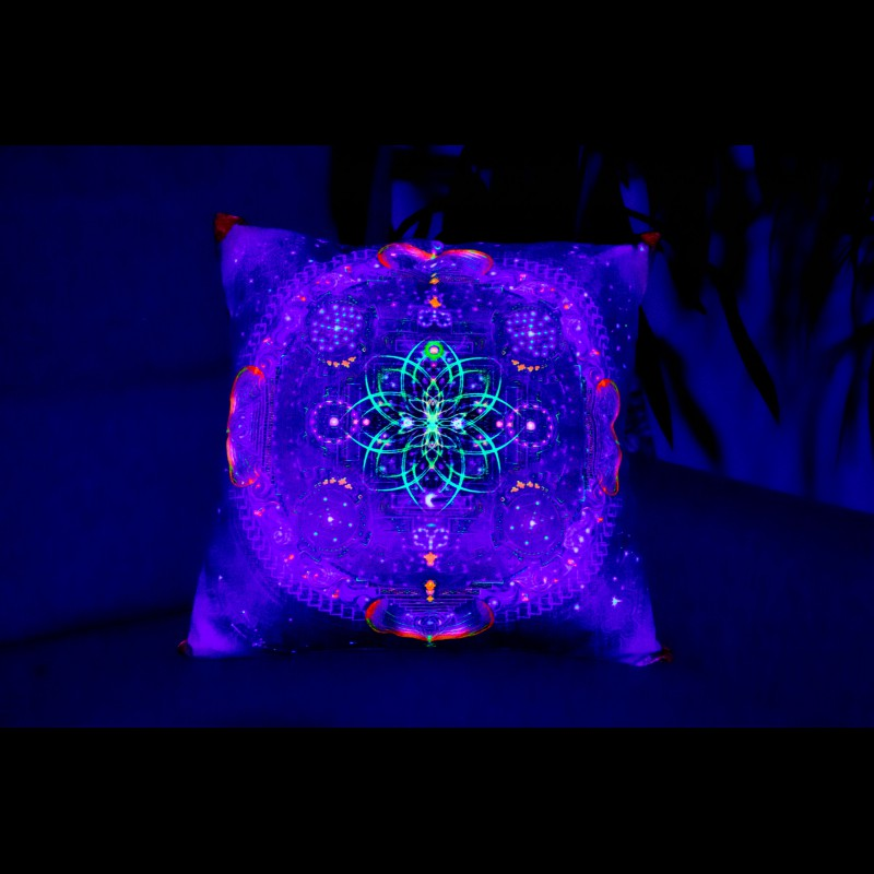 "Decorative Psychedelic UV-Pillow ""Divine Portal"""