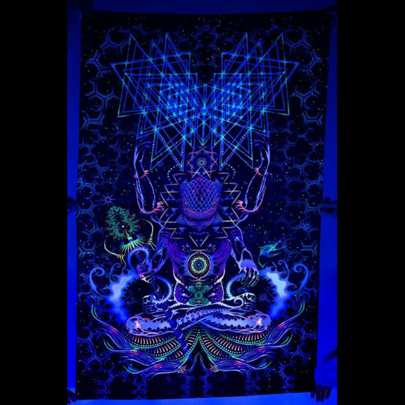 """Psychedelic UV decoration """"Macrocosm"""""""