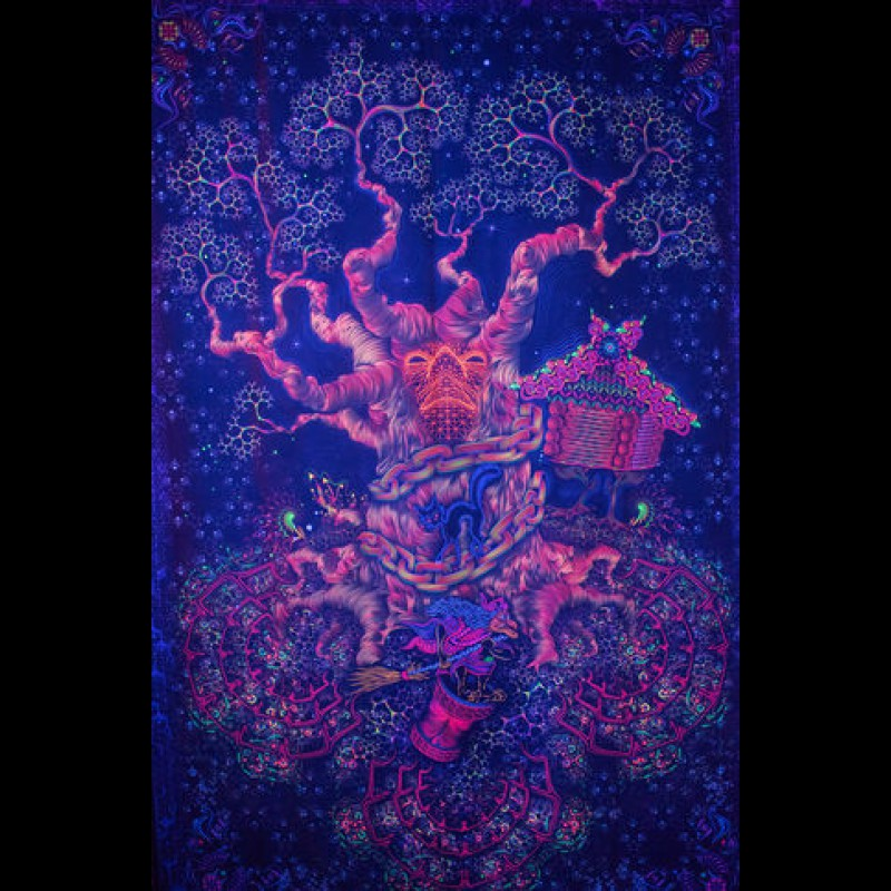 "Fluorescent glow in the dark 3D poster ""Yggdrasil"""