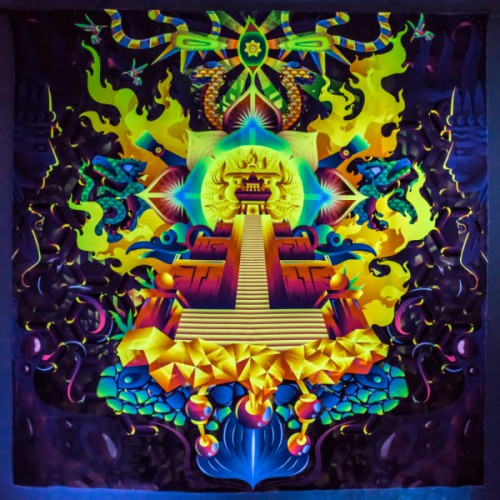 "Psychedelic Fluorescent Backdrop ""Mindcrash"""