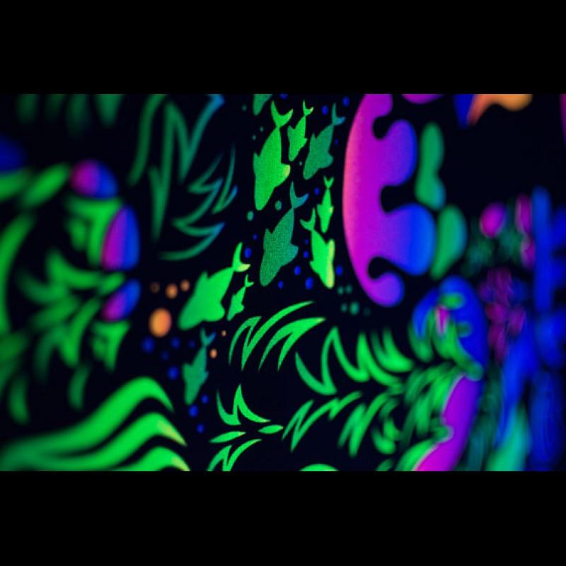 """UV active psychedelic acid backdrop """"Trippy TV"""""""
