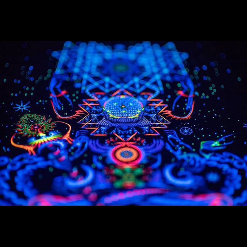 "Psychedelic UV decoration ""Macrocosm"""