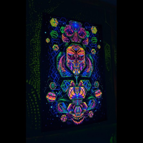 Blacklight psychedelic artwork « Dimension Matrix».