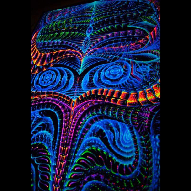 Fluoro psychedelic tapestry BasicBioLogic