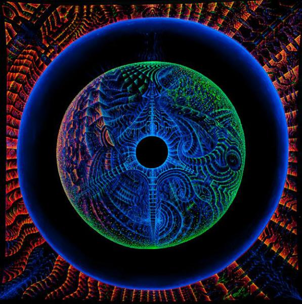 "Trippy mandala  tapestry ""DancingKoan""."
