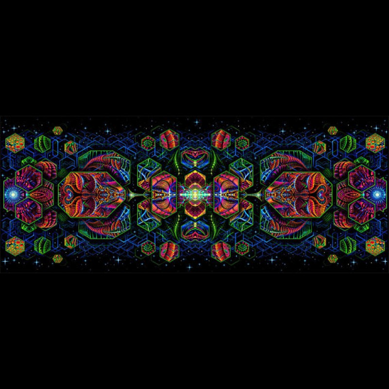 Horizontal version of the tapestry by Andrey Pronin «Dimension Matrix-H».