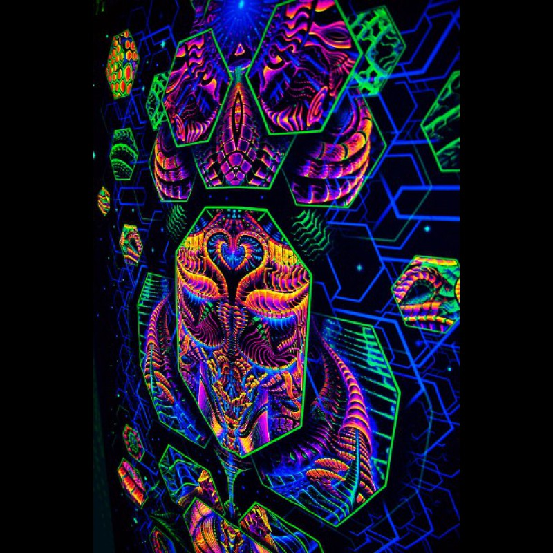 Blacklight psychedelic artwork « Dimension Matrix»