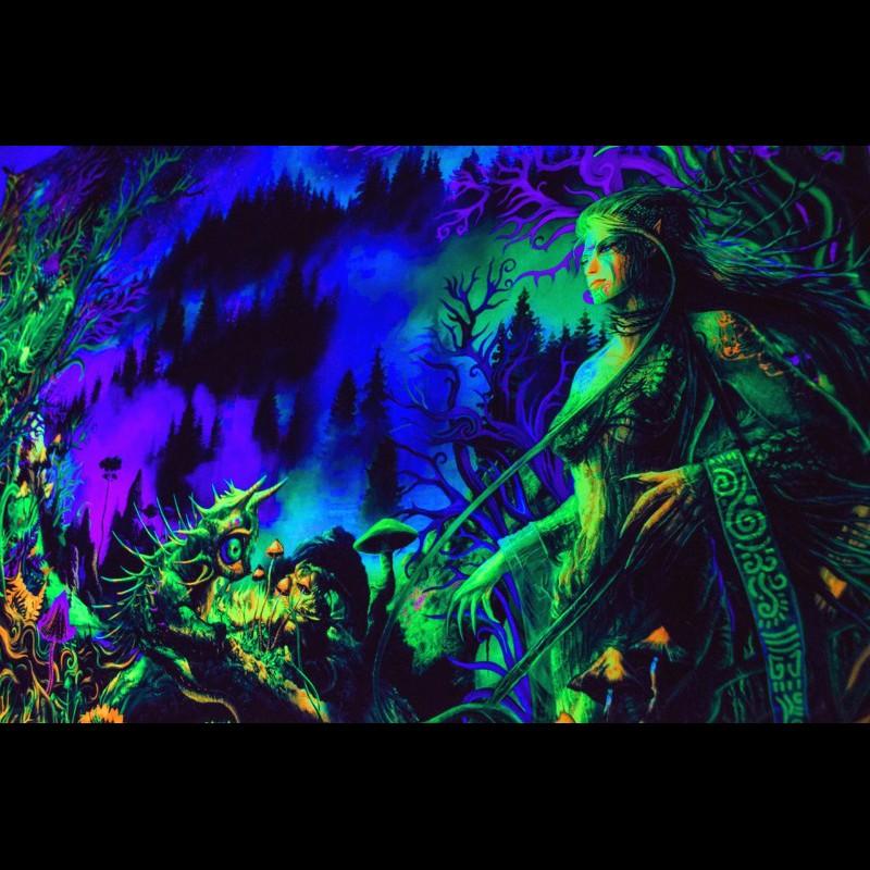 Glow in the dark fluorescent poster «Elven Forest»
