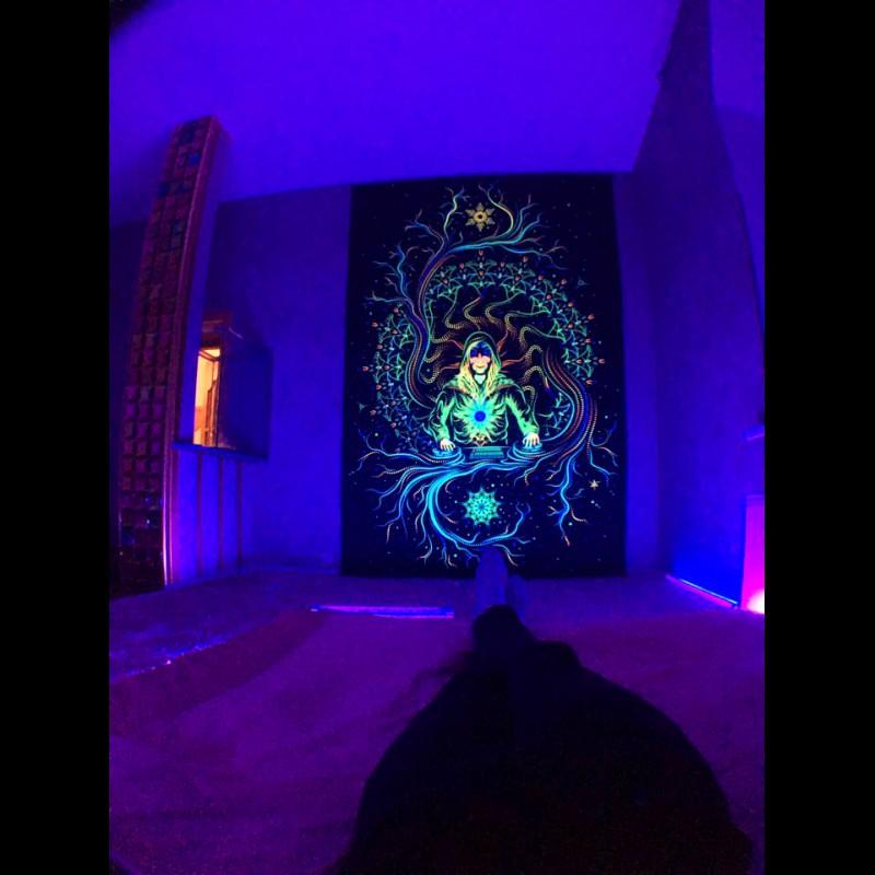 "Fluorescent backdrop ""Crystal Elf"""