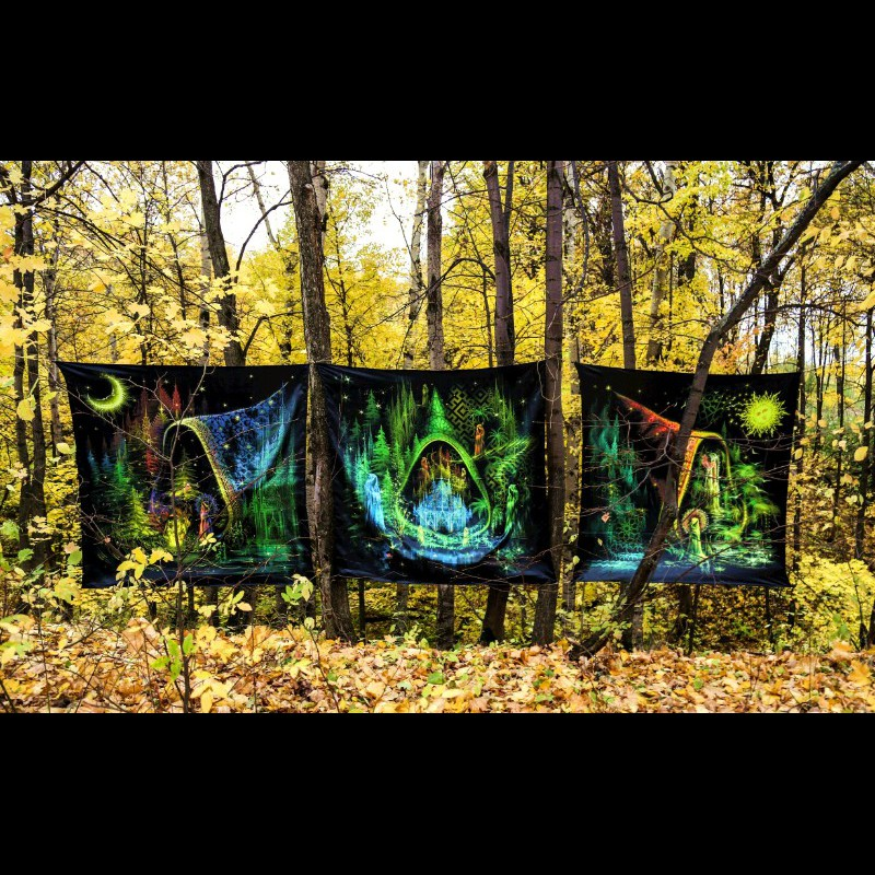 "Fluorescent tapestry ""Trilogy. Episode I. Spirit Of Fire""."