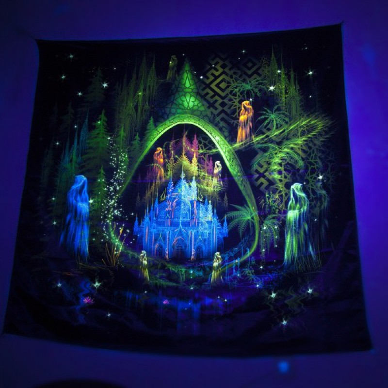 """Fluorescent UV reactive tapestry """"Trilogy. Episode II. Architect."""" ..."""