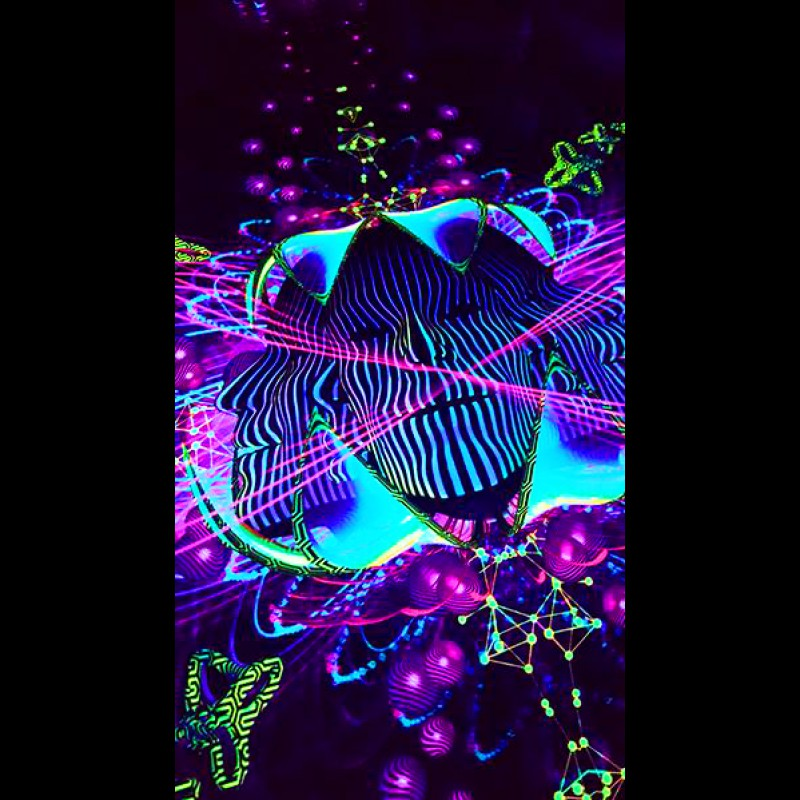 Trippy blacklight poster Subatomic Neuronavt