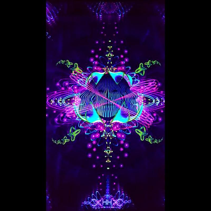 Trippy blacklight poster Subatomic Neuronavt.