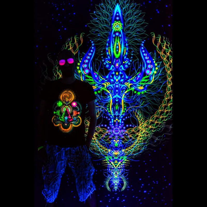 "Trippy  sacred tapestry  ""Trishula"""