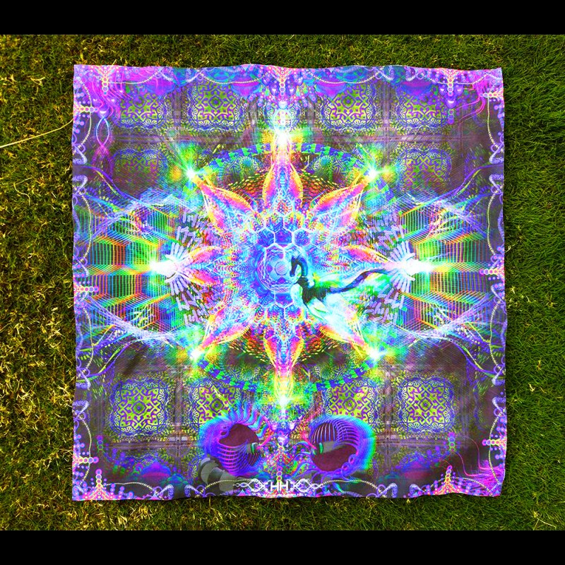 Psychedelic poster Harmalan Fable (not UV-active)