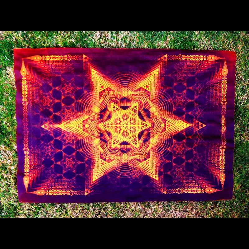 Psychedelic blacklight artwork Morningstar