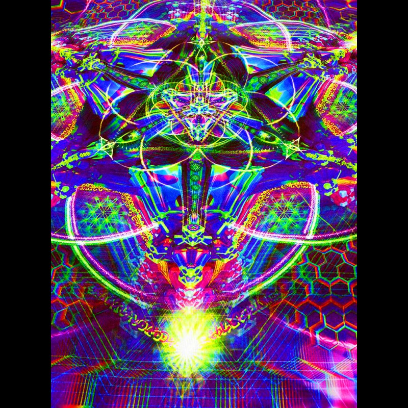 Psychedelic trippy wallart Trance Nectar (not UV-active)