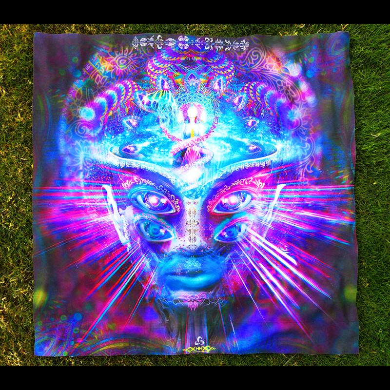 Fractal psychedelic tapestry Internal Awareness (not UV-active).