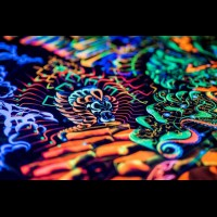 "Incredible, exciting fractal art, psychedelic backdrop ""Heaven and Hell"""