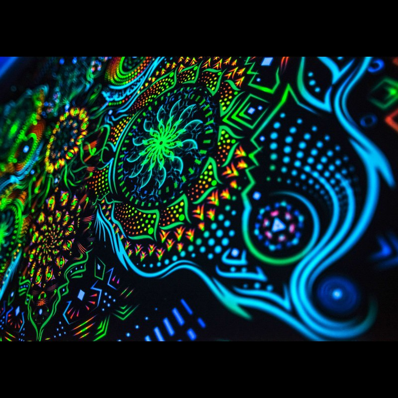 Psychedelic fluorescent banner «Butterfly Effect-H».