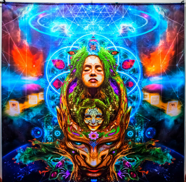 "Psychedelic fluorescent poster  ""Insight"""