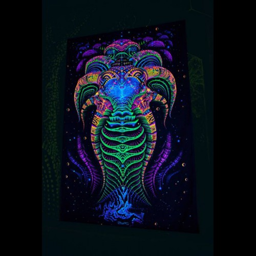 Cyberspace blacklight tapestry Matrix Archetype