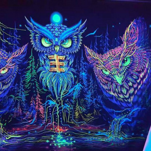 Forest mystical boho tapestry «Night Owl»