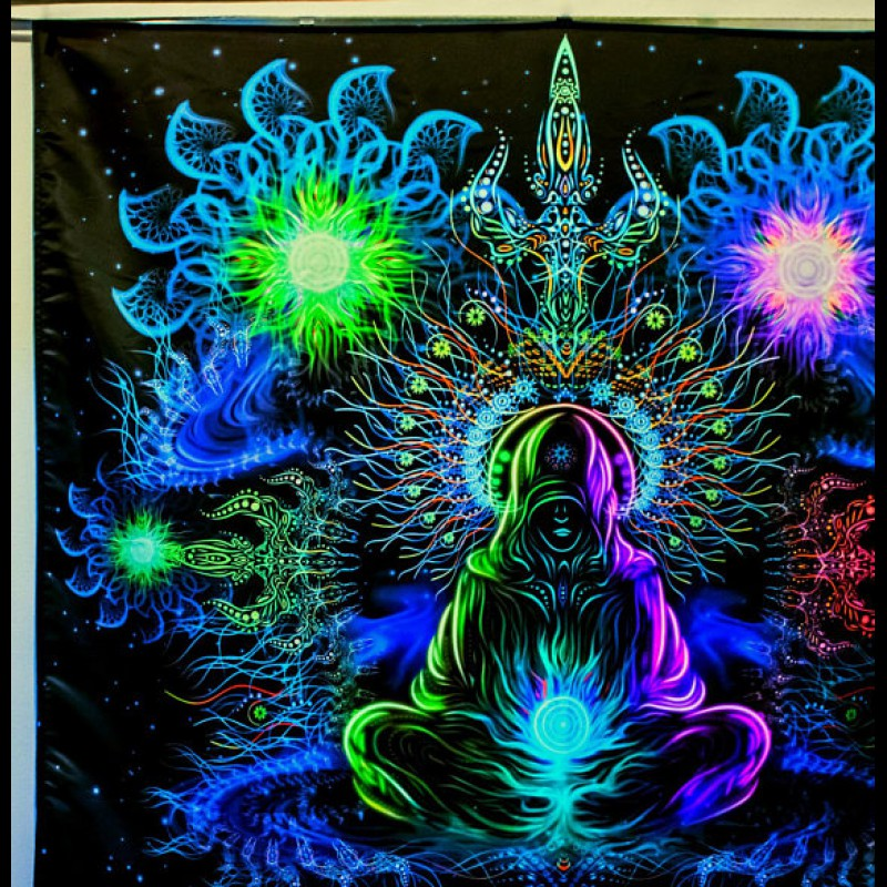 Stunning fluorescent tapestry «Depths of Space»