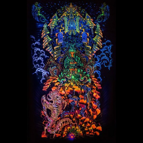 "Incredible, exciting fractal art, psychedelic backdrop ""Heaven and Hell&..."